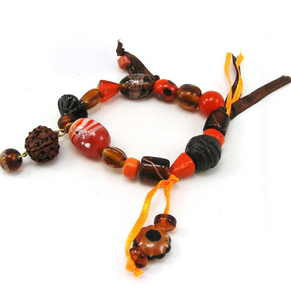 Bracelet \'Kilimanjaro\' Orange Marrob - [F2665]