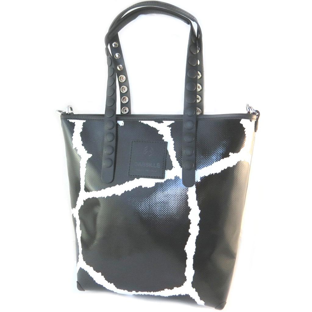 Sac créateur \'Gabs\' noir blanc (M) - 34x30x11 cm - [P1564]