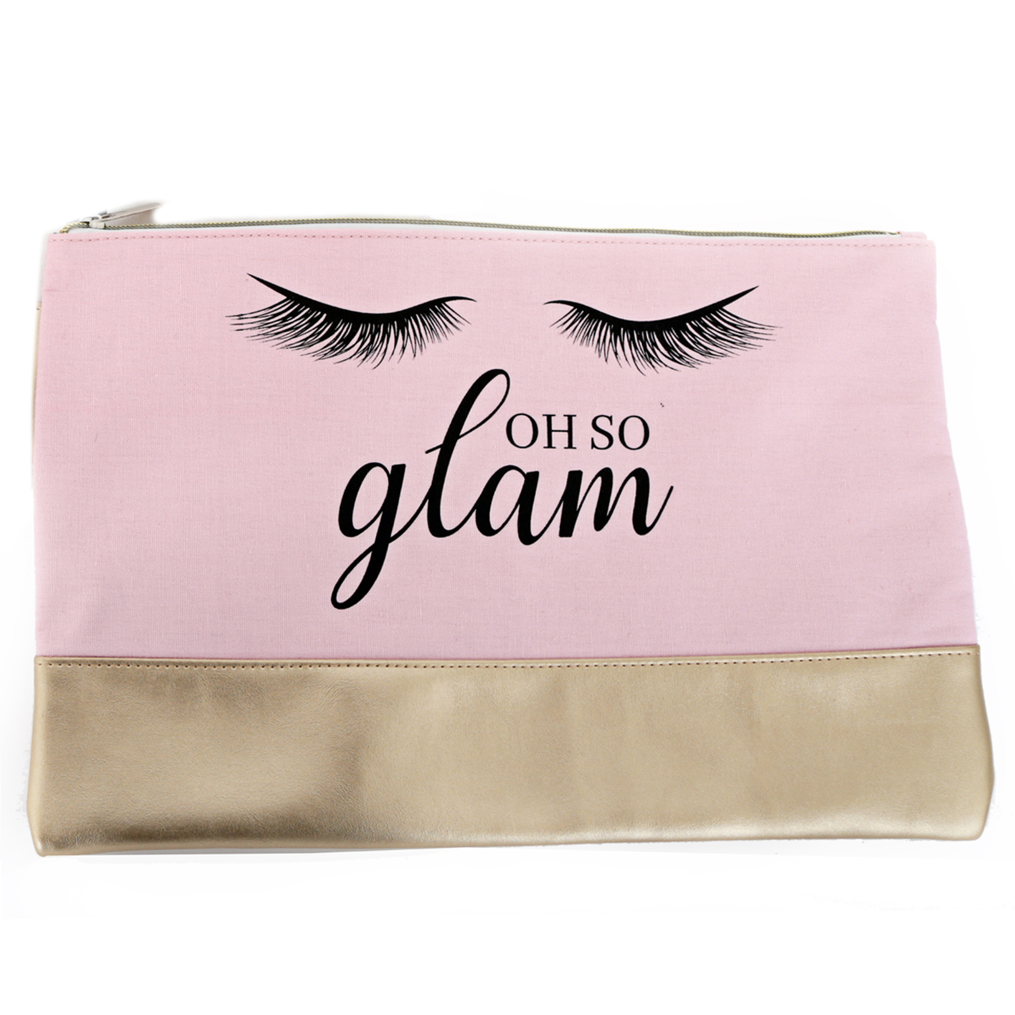 Trousse de toilette \'Diva - Yeux Endormis\' rose (Oh so glam) - 36x23 cm - [Q9982]