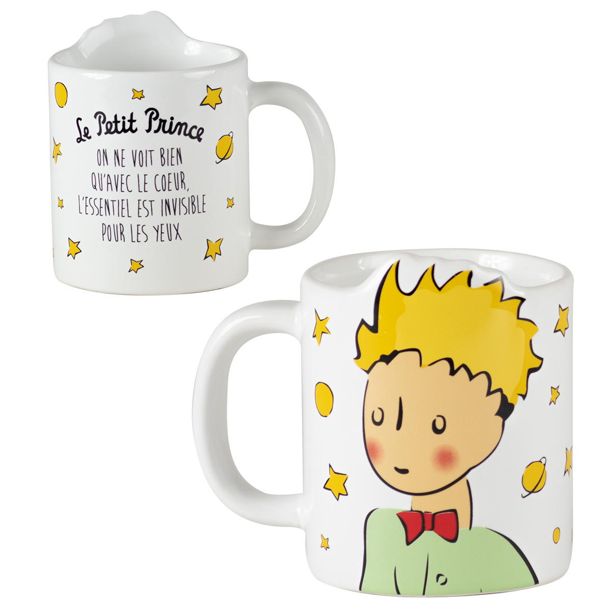 Mug céramique \'Le Petit Prince\' blanc multicolore - 115x9 cm - [R0007]