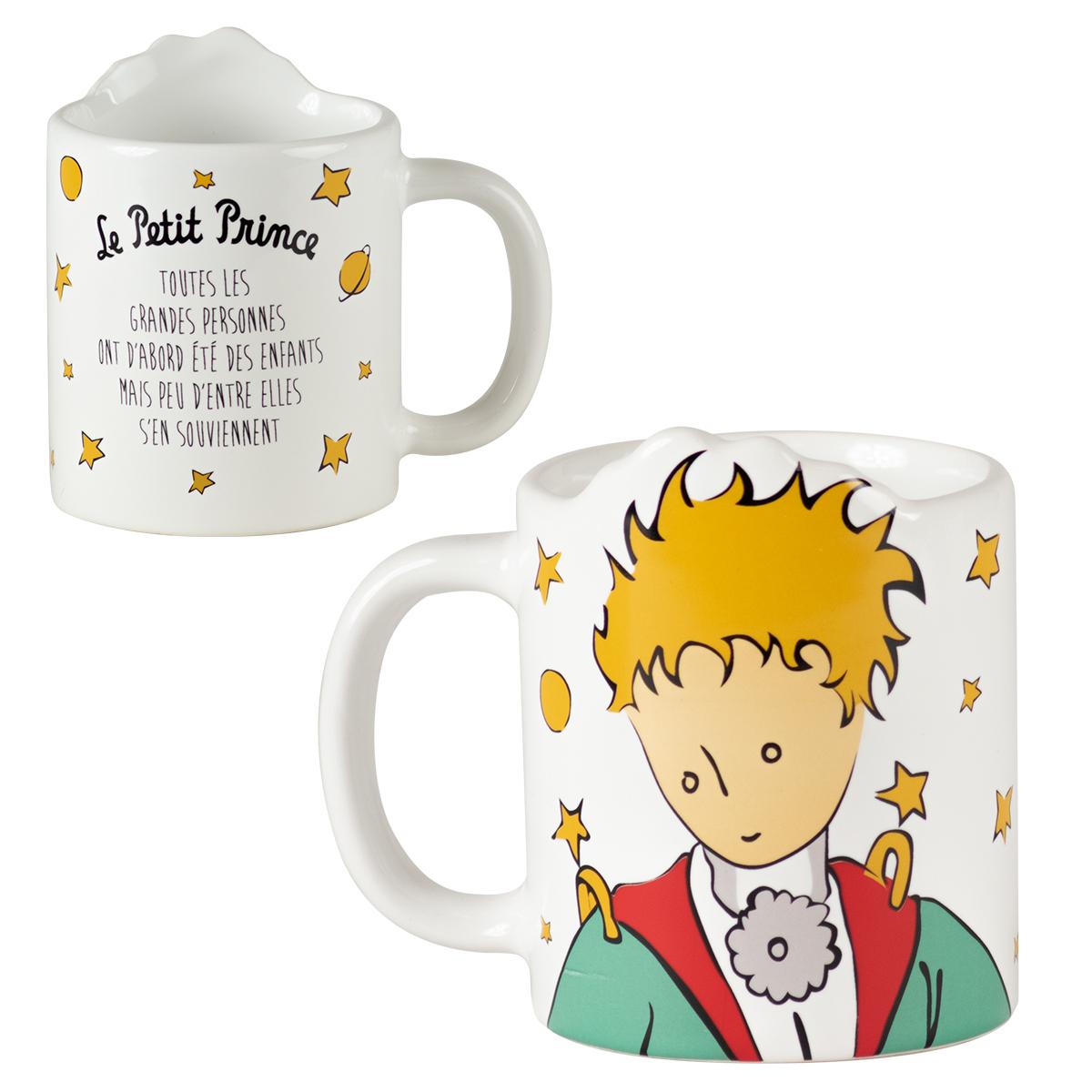 Mug céramique \'Le Petit Prince\' blanc multicolore - 115x9 cm - [R0008]