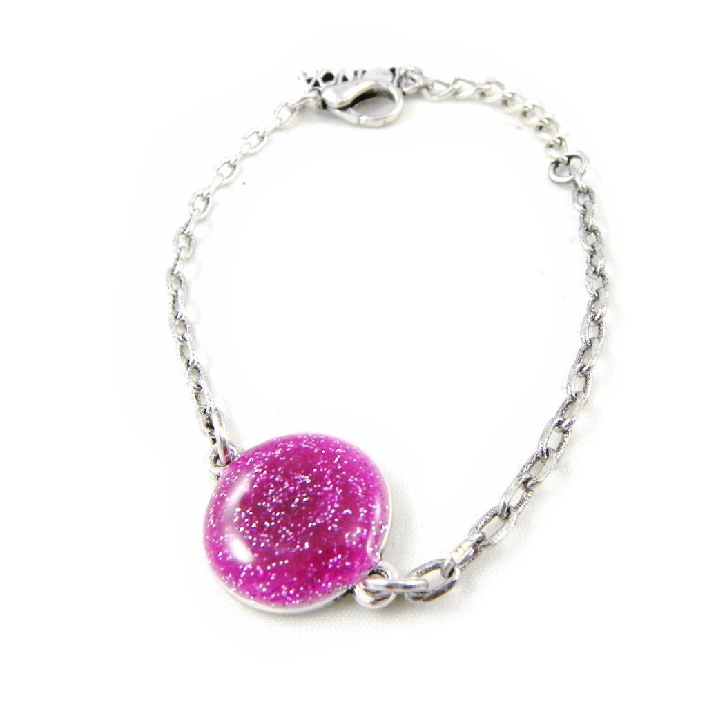 Bracelet Créateur \'Nora\' rose - [H4788]