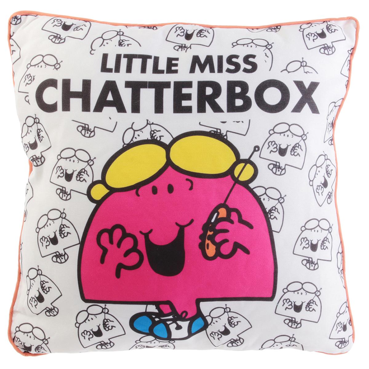 Coussin créateur \'Monsieur Madame\' rose (Little Miss Chatterbox) - 40 cm - [R0025]