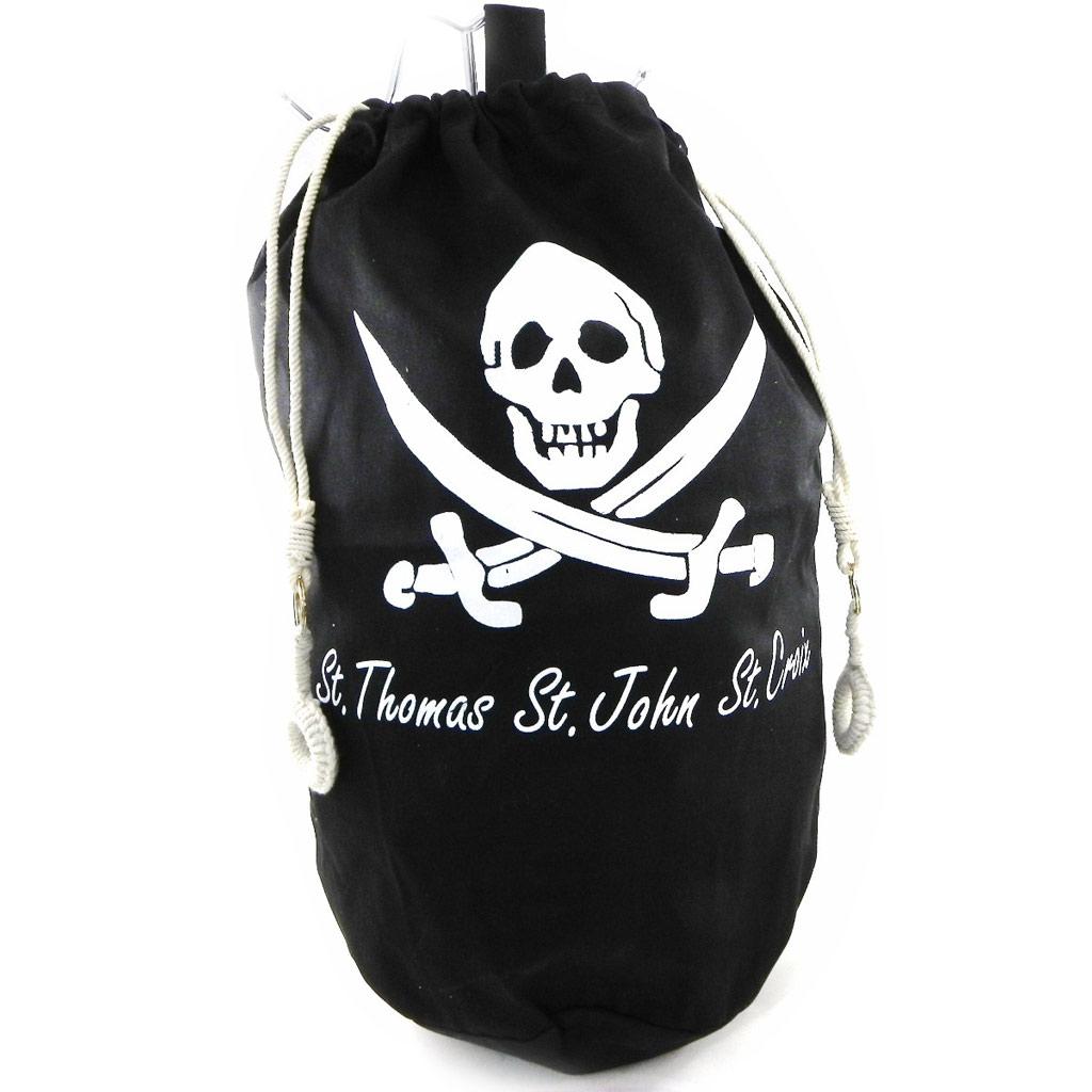 Sac marin polochon \'Pirate\' noir - [H4817]