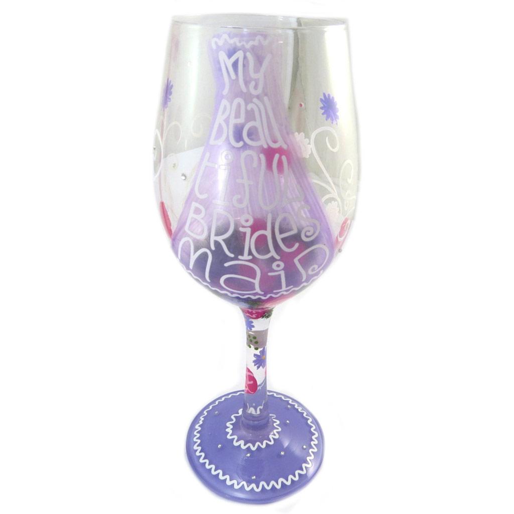 Verre à vin créateur \'My Beautiful Bridesmaid \' violet - 225 cm - [P2832]