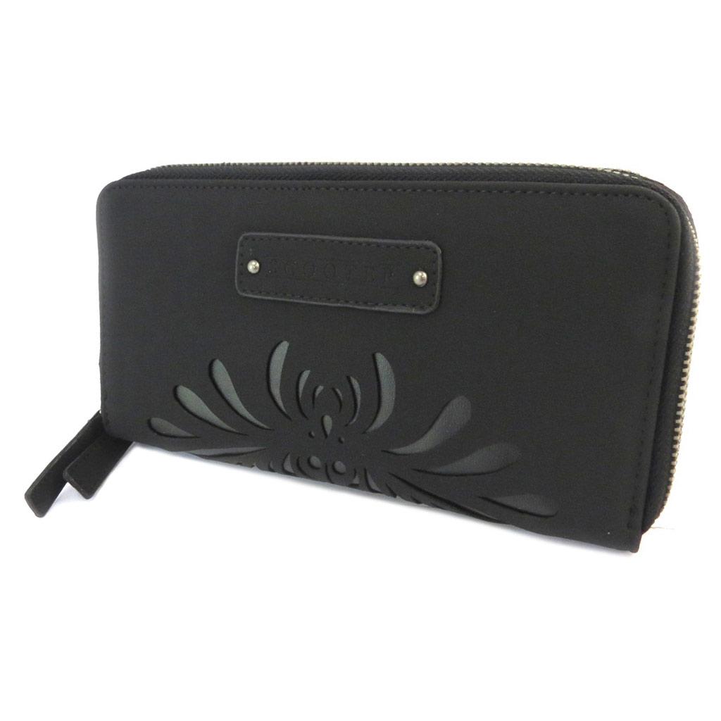 Compagnon zippé \'Scooter\' noir (double compartiments) - 22x115x3 cm - [P2945]