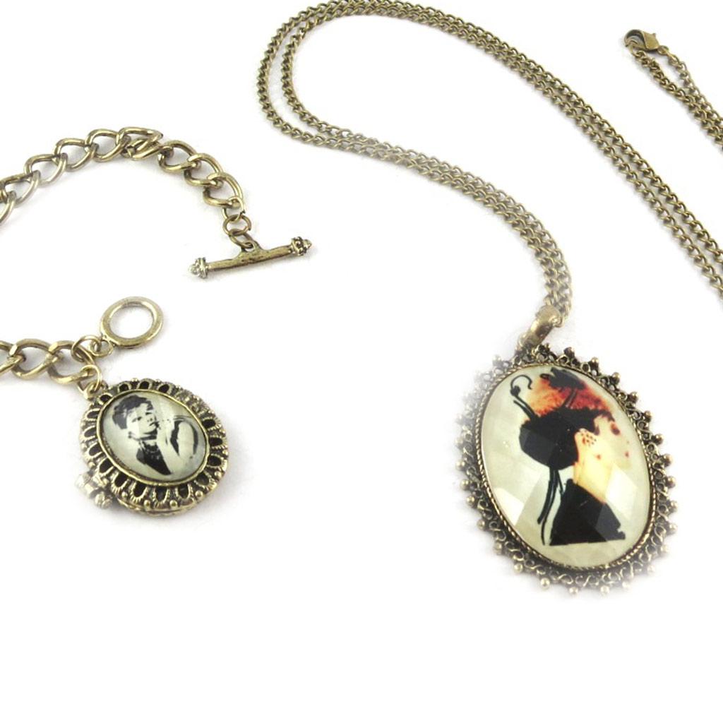 Parure créateur \'Belle Epoque\' (collier + bracelet) - [K6988]