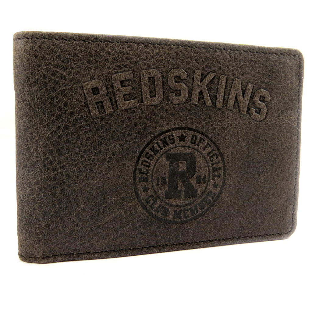 Porte-cartes cuir \'Redskins\' marron vintage - [L7264]