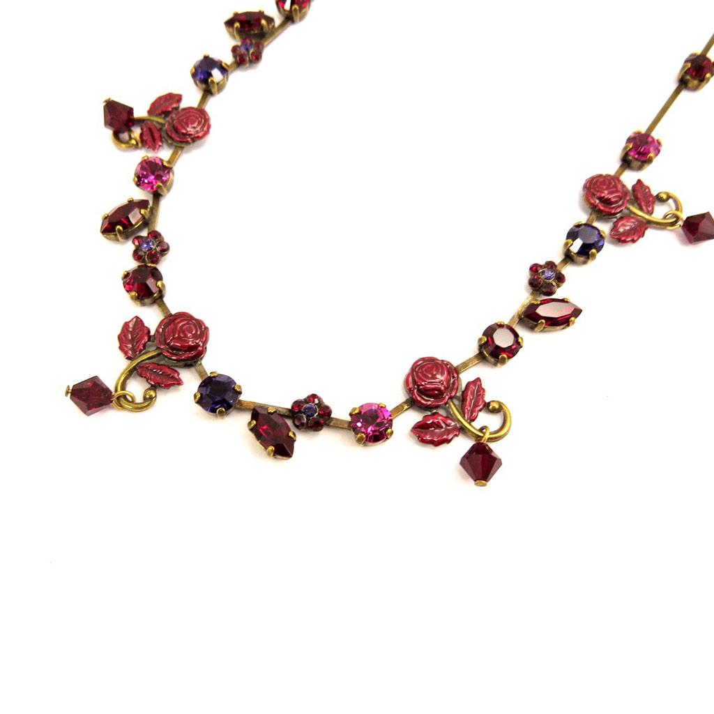 Collier Créateur \'Isis\' Rouge / Rose / Violet  - [D5273]