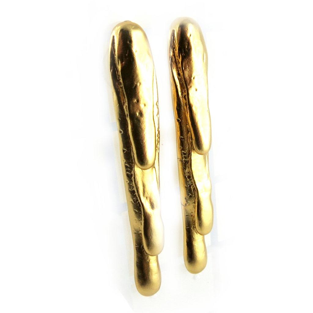 Boucles Créateur \'DV - Picturales\' Doré  - [E6302]