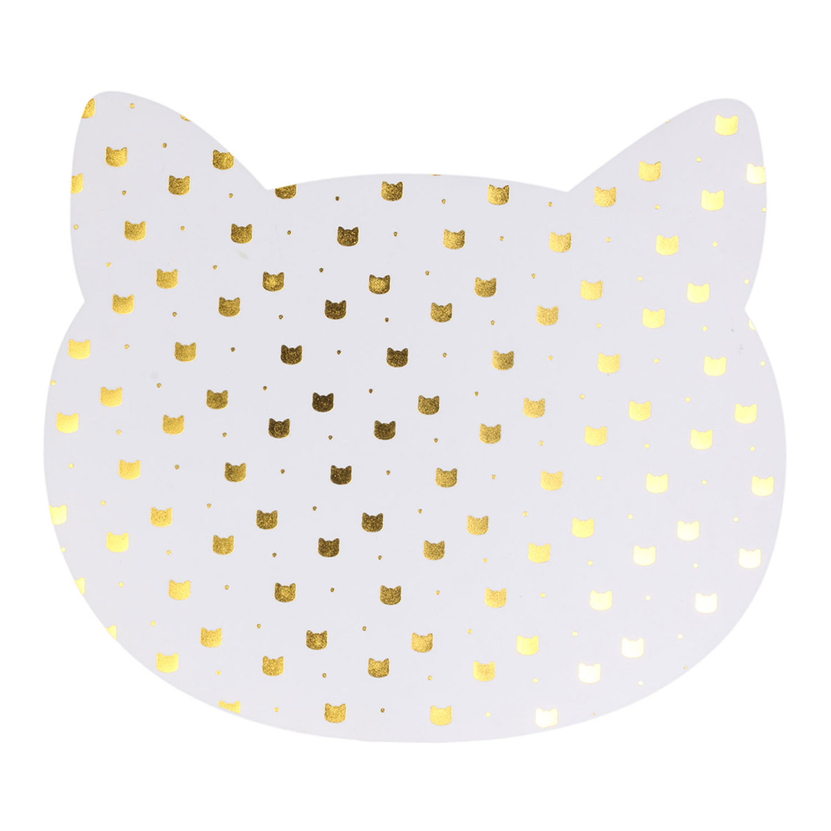 Set de table \'Les Chats\' blanc doré - 38x33 cm - [R2515]