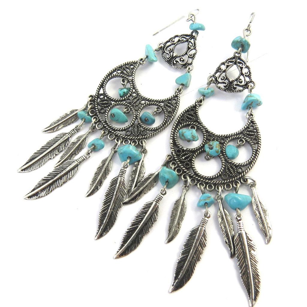 Boucles Créateur \'Navajos\' turquoise - [M7804]