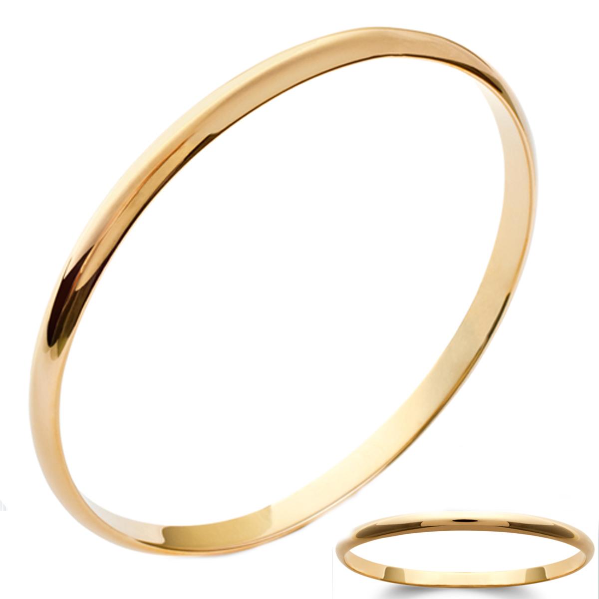 Bracelet Plaqué Or \'Demi-Jonc\' 62 mm 5 mm - [J9367]