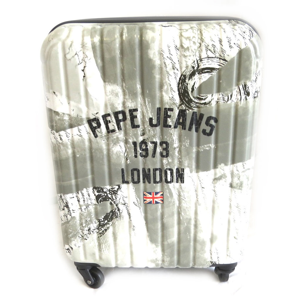 Valise ABS \'Pepe Jeans\' gris - Union Jack (London) 55 cm - [M7849]