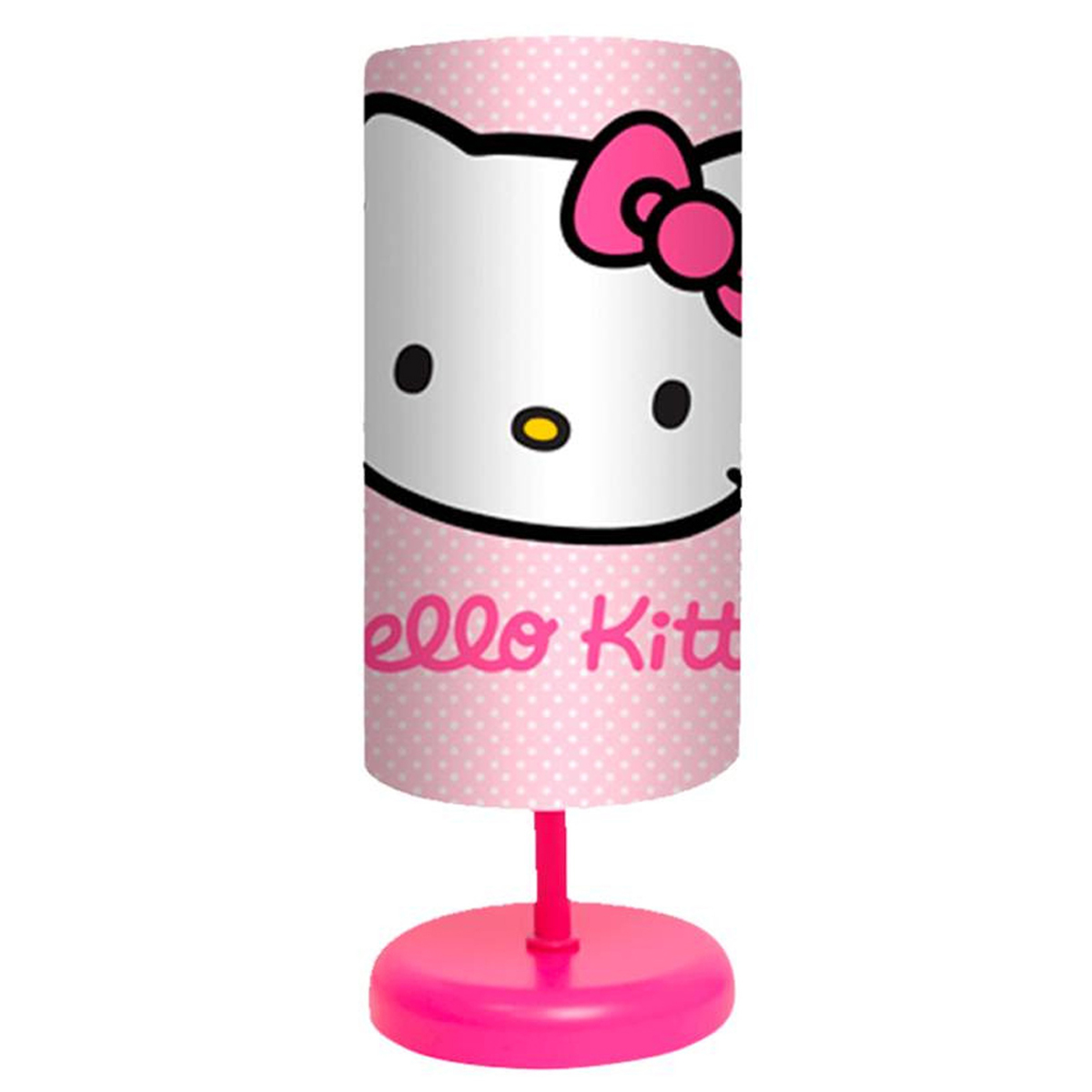 Lampe \'Hello Kitty\' rose - abat jour 23x10 cm - [R2545]