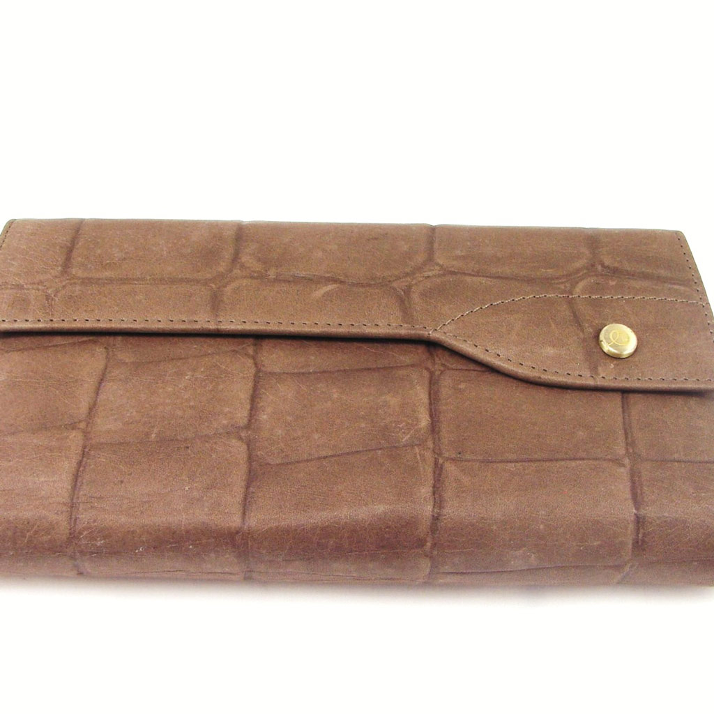Grand Portefeuille Porte-monnaie \'Jacques Esterel\' Marron Taupe - [F3296]
