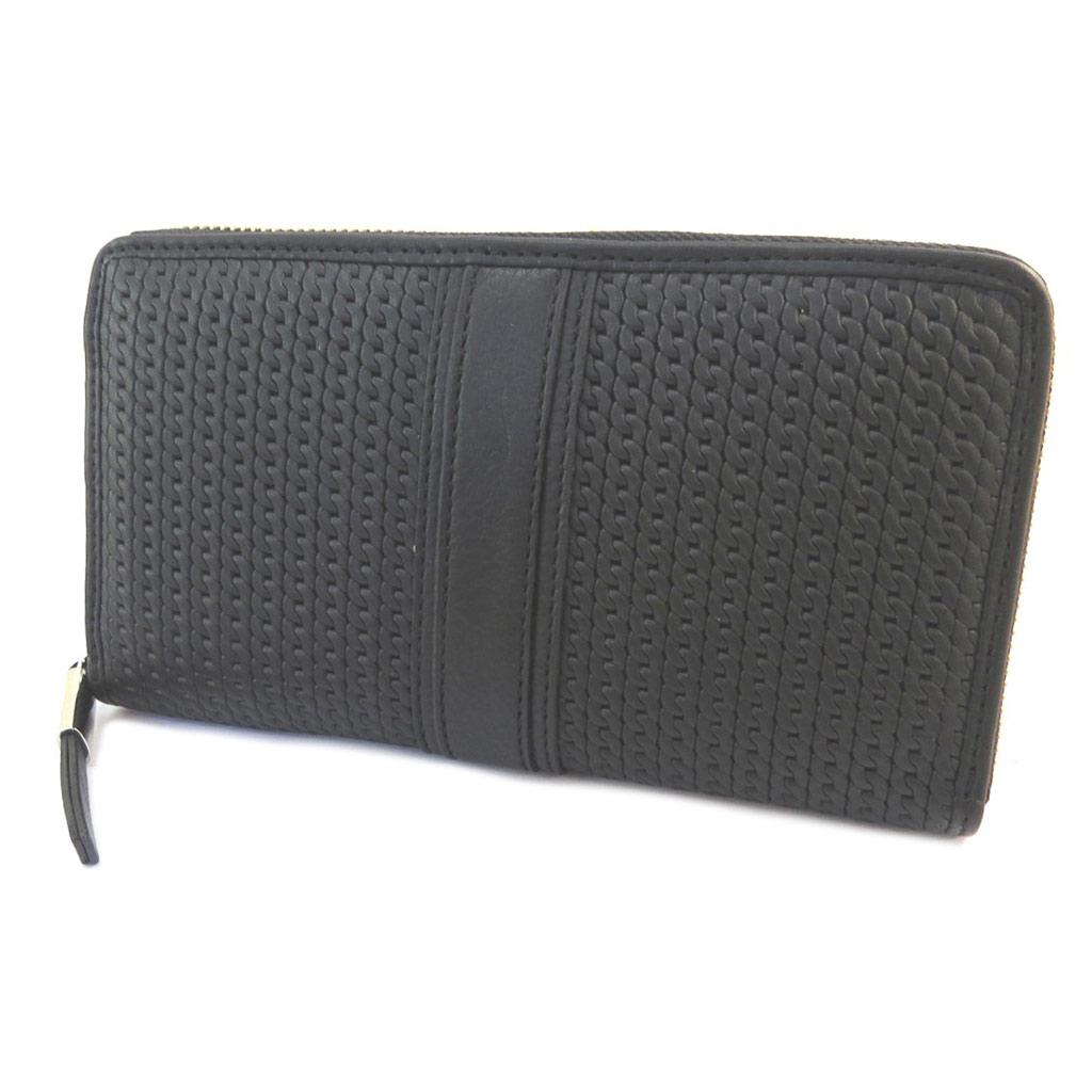 Compagnon zippé cuir \'Gianni Conti\' noir - 19x105x25 cm - [P3027]