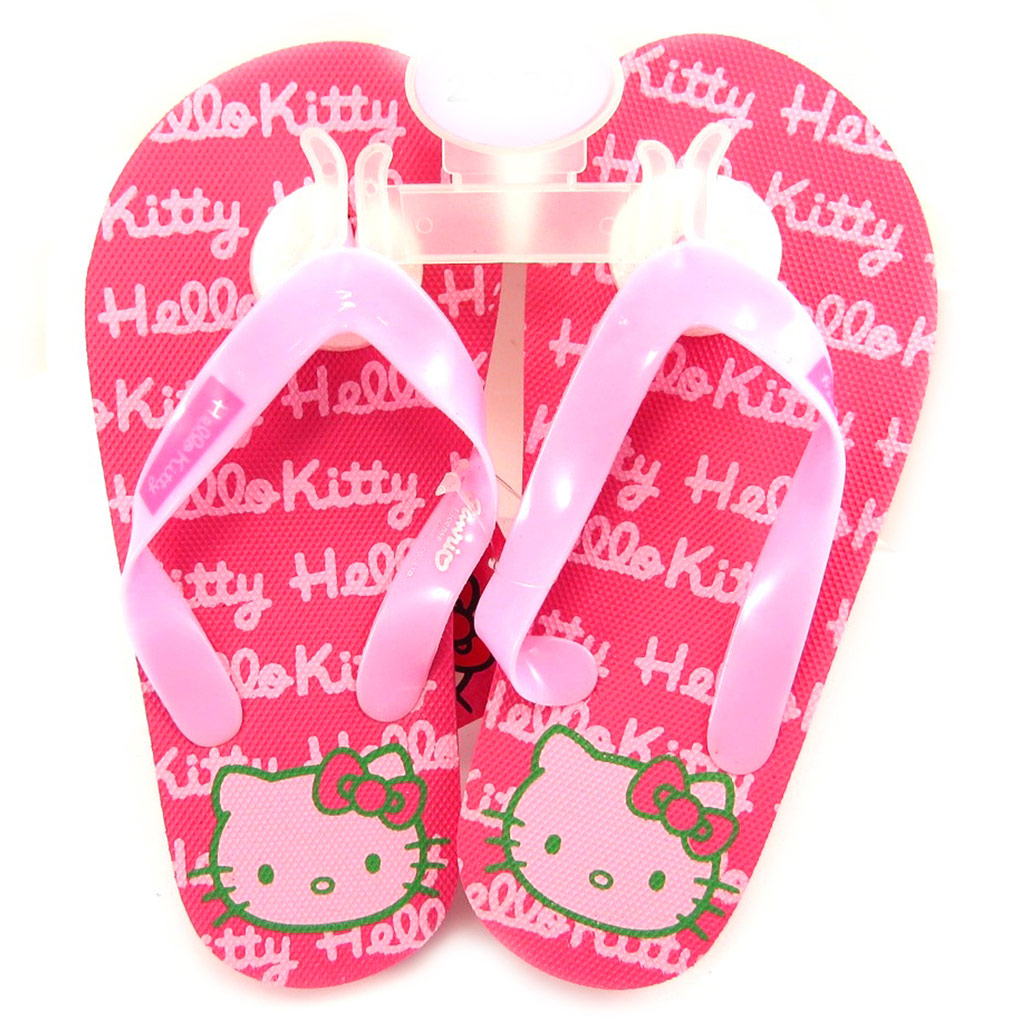 Tongs \'Hello Kitty\' rose fuschia - [L2086]