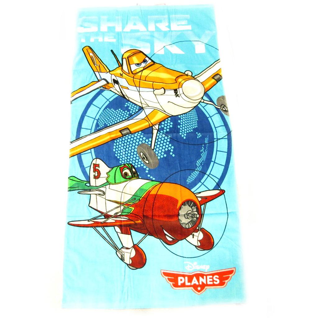 Drap de plage \'Planes\' turquoise - [L2107]