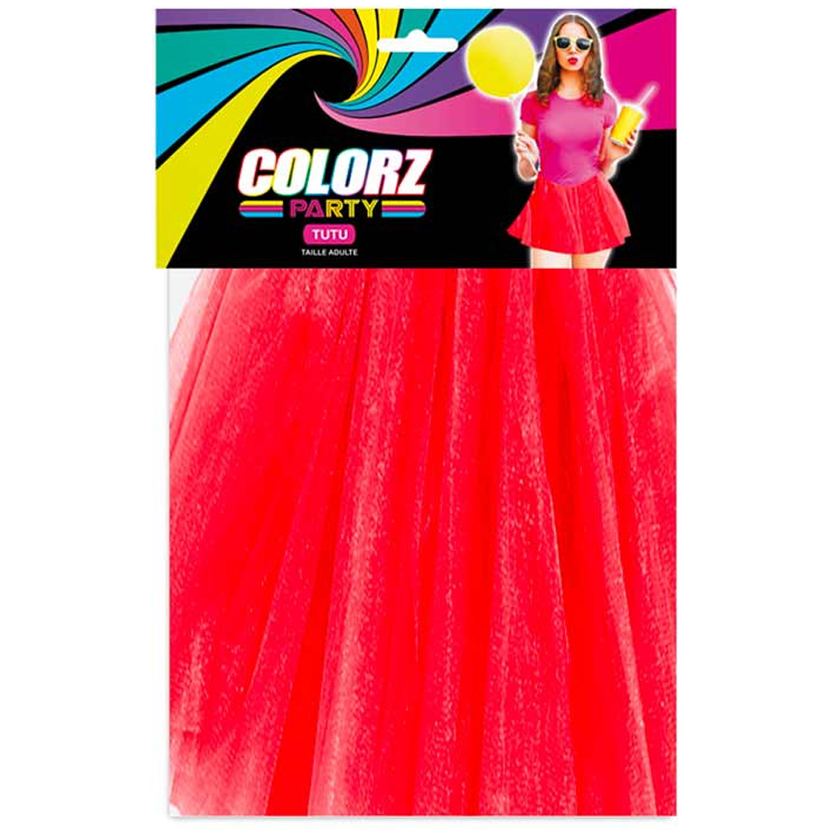 Tutu festif \'Coloriage\' rouge - 38 cm - [R2616]