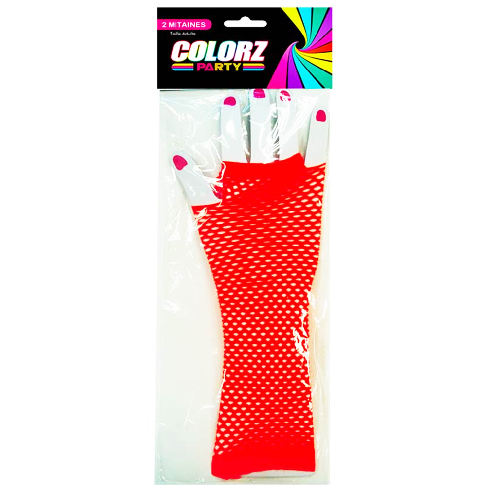 Mitaines \'Coloriage\' rouge - 275 cm - [R2621]