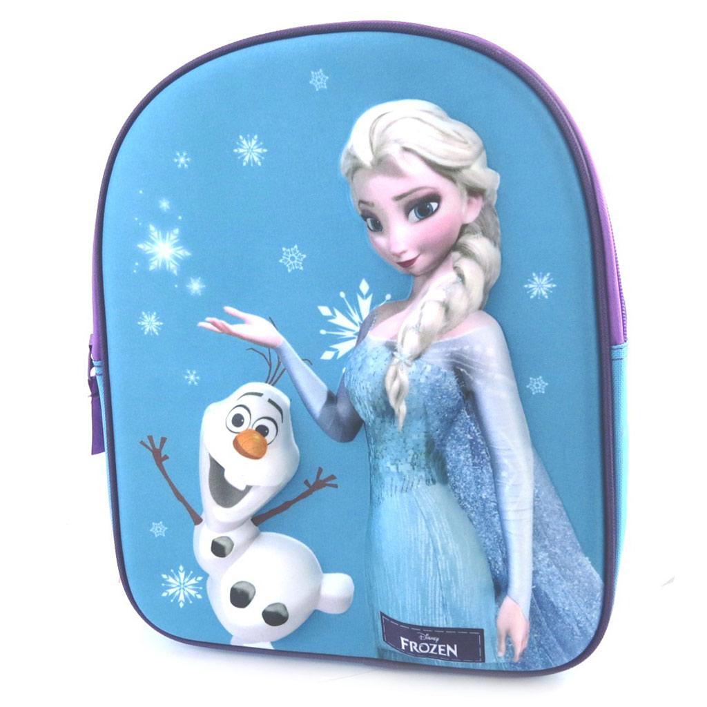Sac à Dos 3D \'Frozen - Reine des Neiges\' bleu (31x25x12 cm) - [M8285]