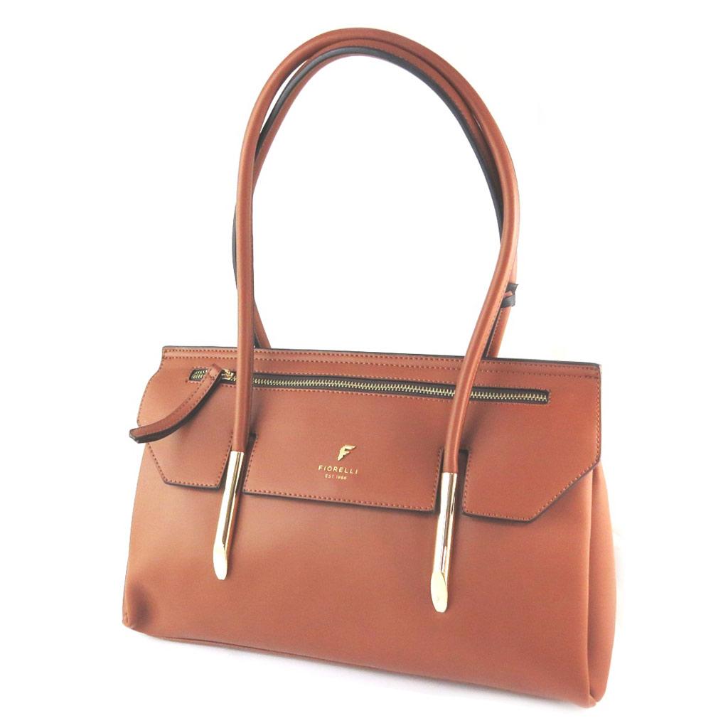 Sac créateur \'Fiorelli\' marron tan (3 compartiments) - 37x23x14 cm - [N9142]