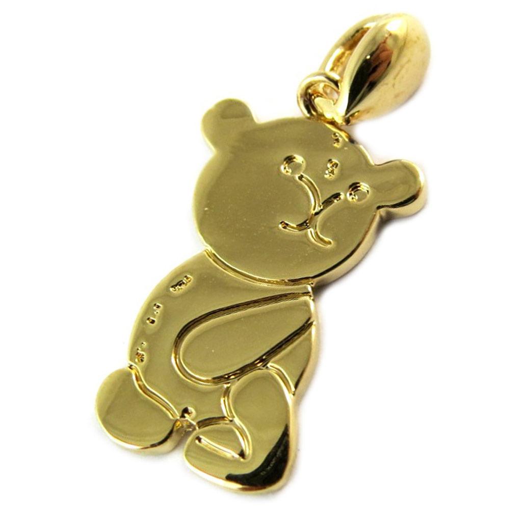Pendentif Plaqué Or \'Teddy\' doré - [N9180]