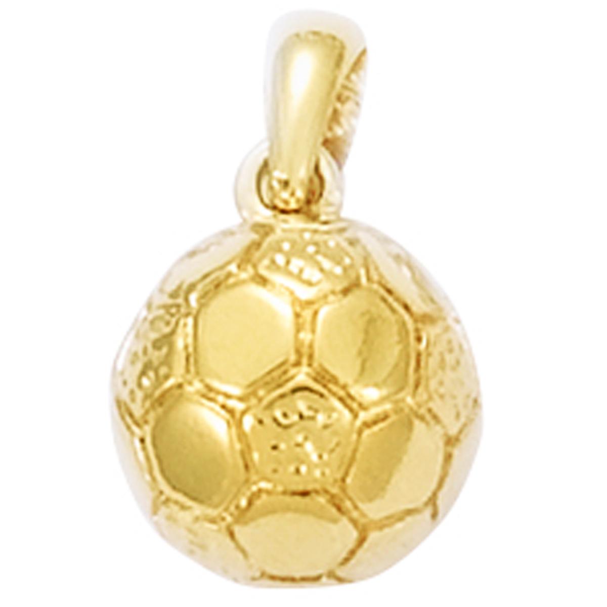 Pendentif Plaqué Or \'Football\' doré (ballon de football) - 10 mm - [N9181]