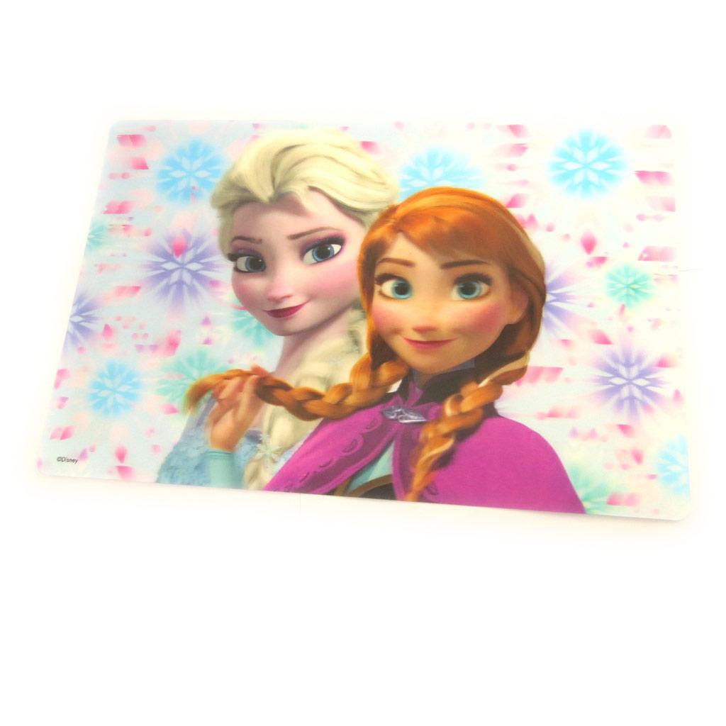 Set de table 3D \'Frozen - Reine des Neiges\' blanc rose (Elsa, et Anna) - [M8353]