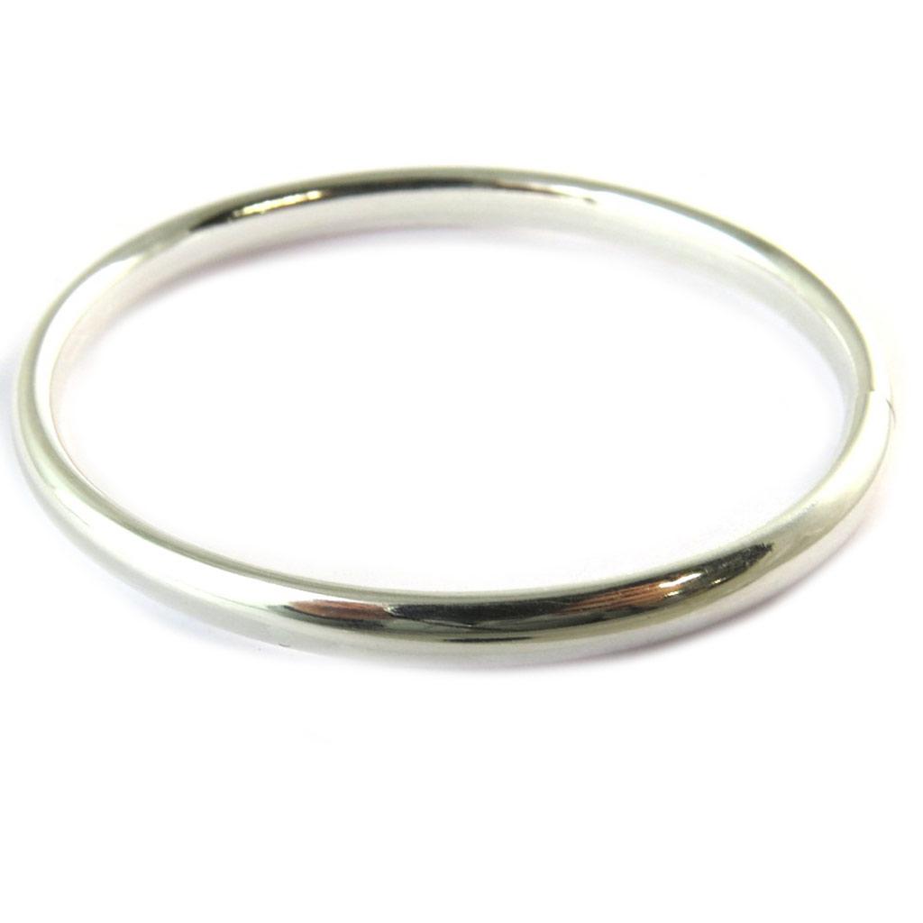 Bracelet Argent \'Demi-Jonc\' - 60 mm 6 mm - [N9256]