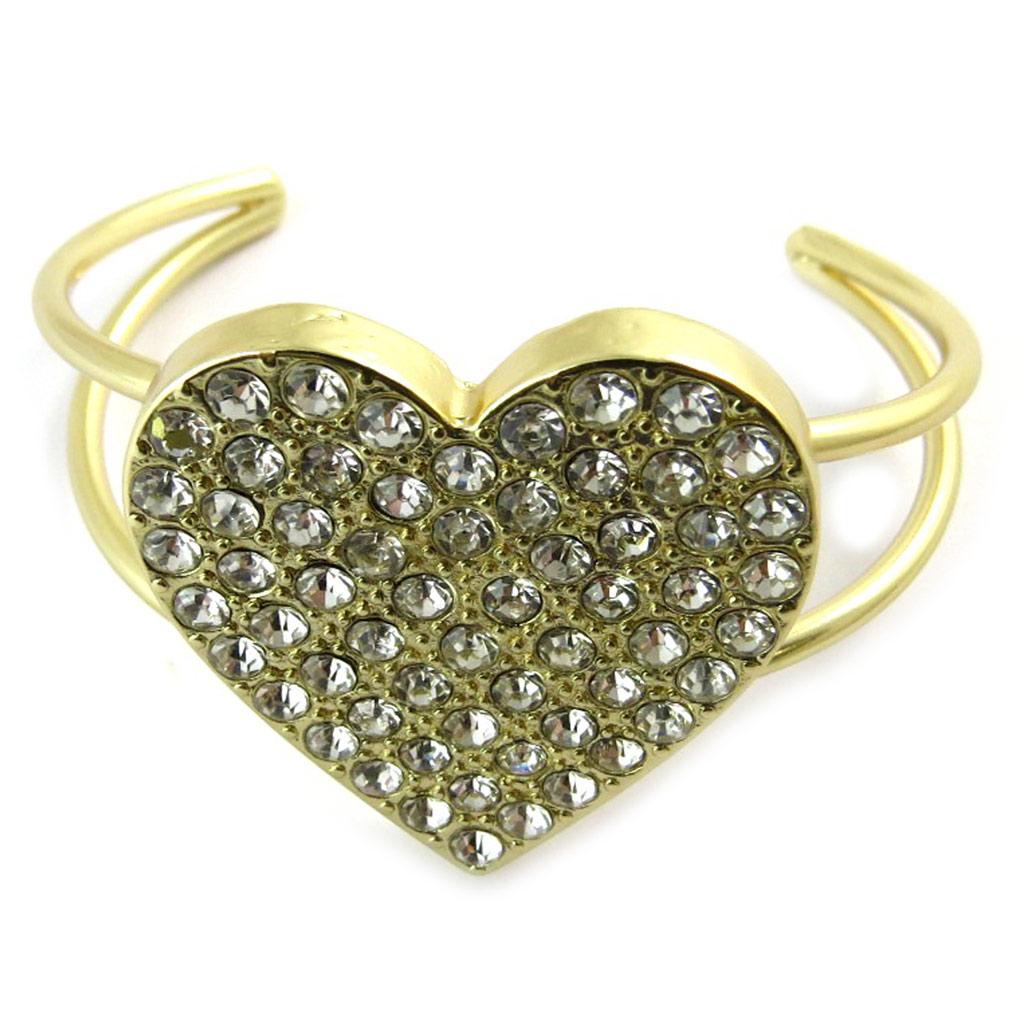 Bracelet Créateur \'Love\' blanc doré  - [N9267]