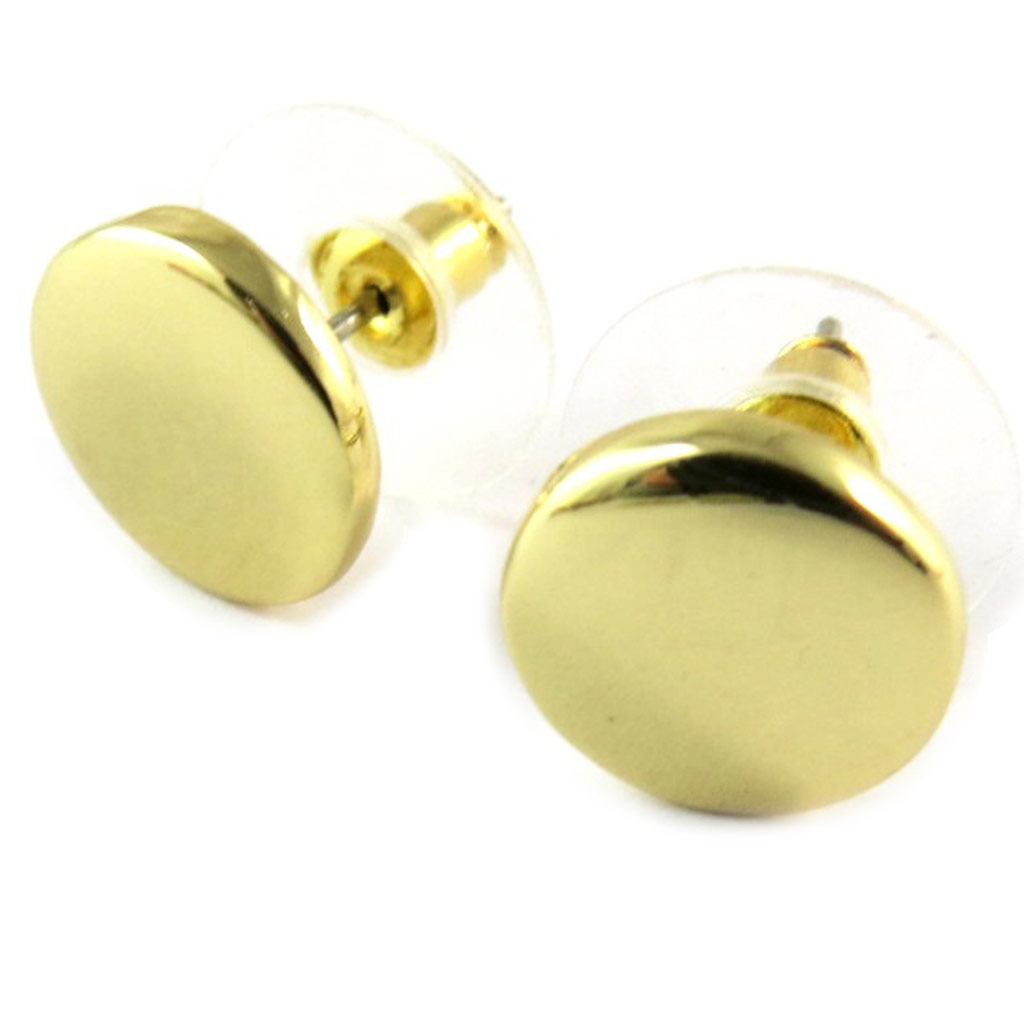 Boucles Créateur \'Antica\' doré brillant - 11 mm - [N9285]