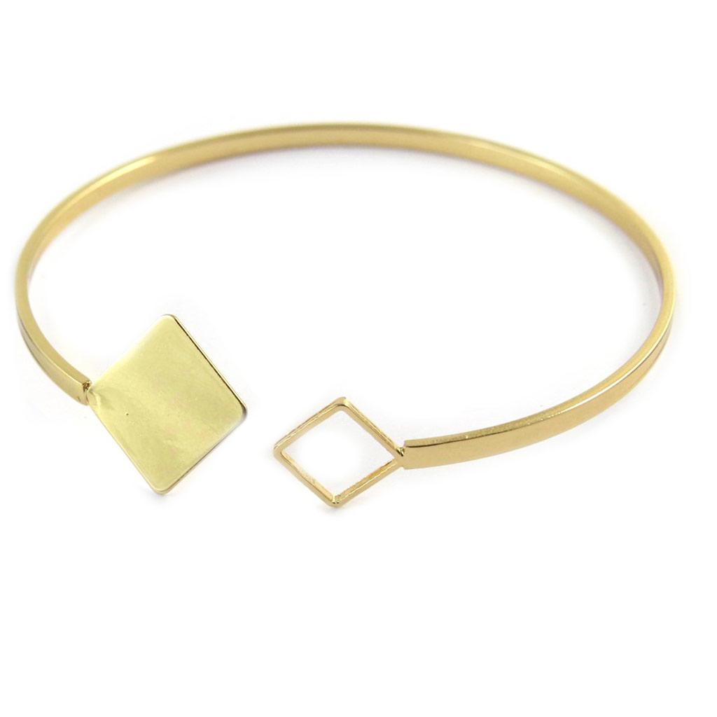 Bracelet \'Chorégraphie\' doré (lozange)  - [N9312]