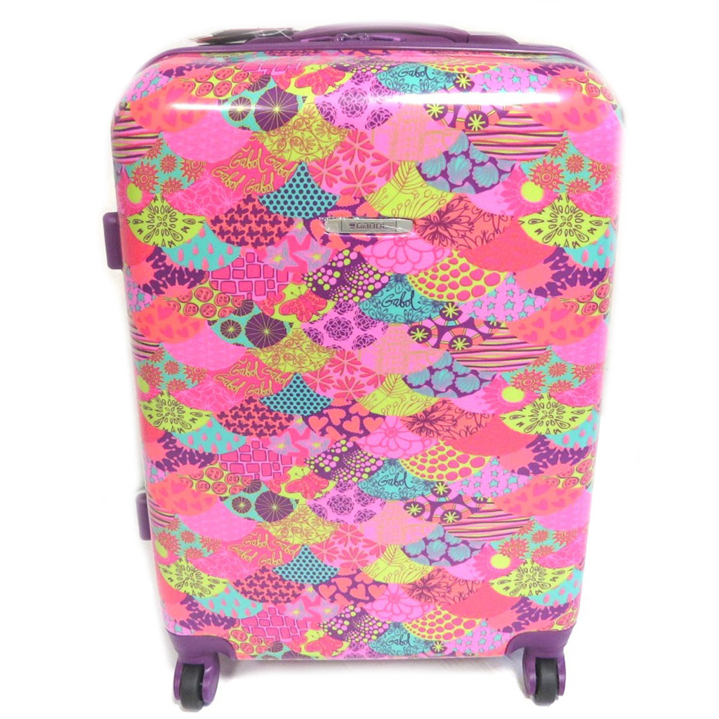 Valise trolley ABS \'Gabol\' rose - 44x64x25 cm - [N9355]