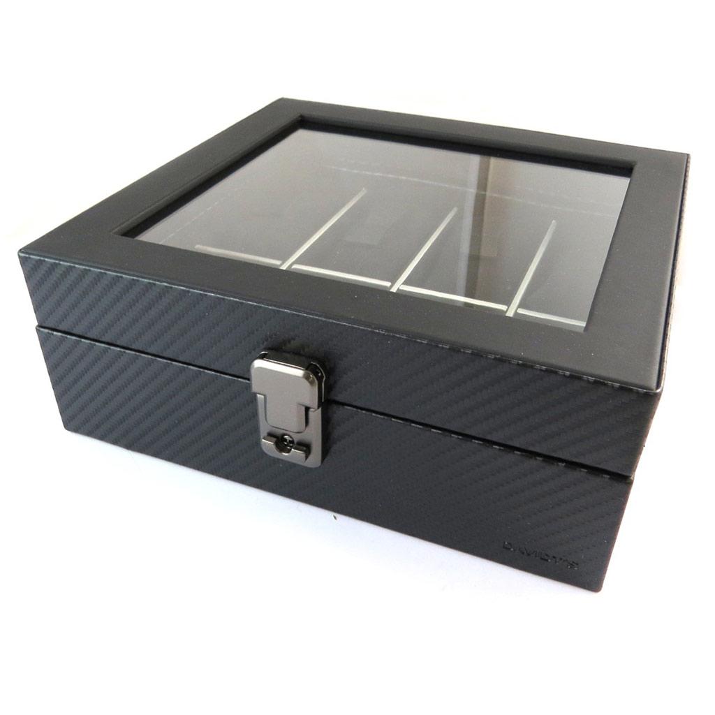 Coffret à montres \'Graphite Design\' noir (8 montres) - 225x21x85 cm - [N9382]