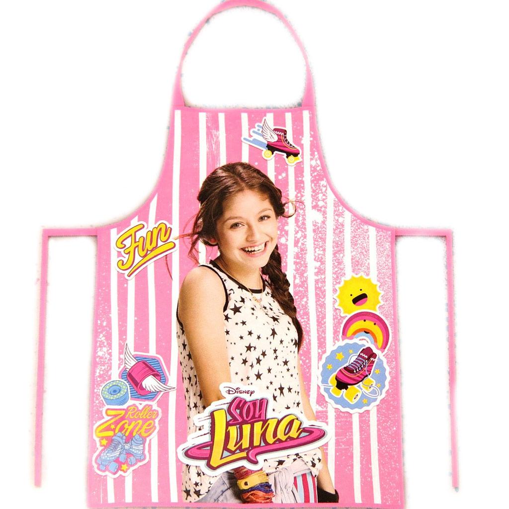 Tablier de cuisine enfant + toque \'Soy Luna\' rose  - [N9388]