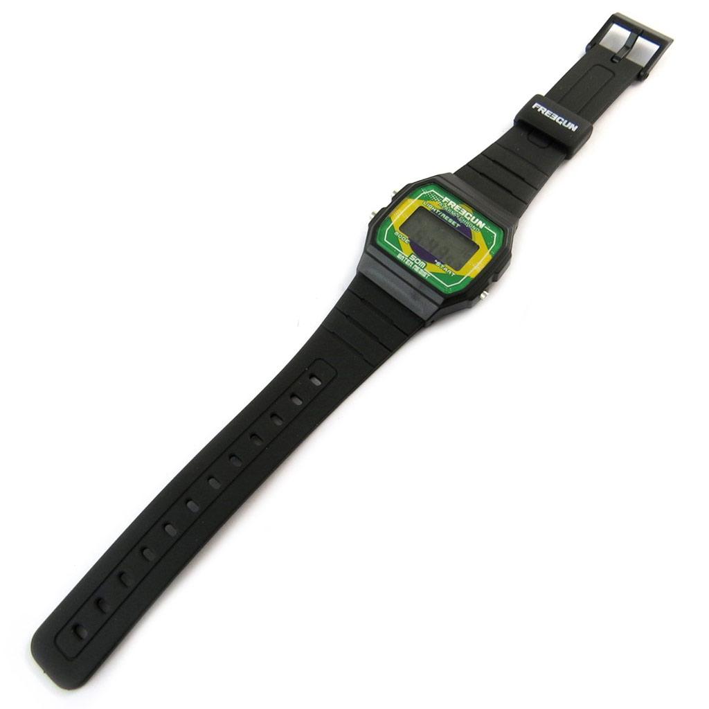 Montre digitale \'Freegun\' noir vert (Brésil) - [N9464]
