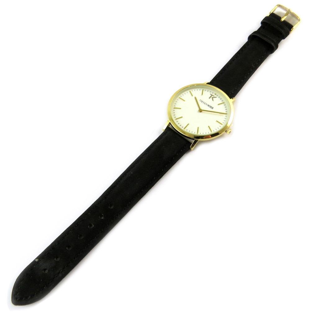 Montre femme \'Trendy\' noir doré - [N9474]