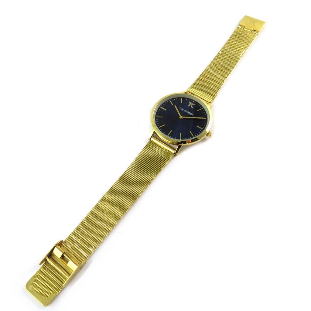 Montre analogique femme \'Trendy\' bleu doré - [N9479]