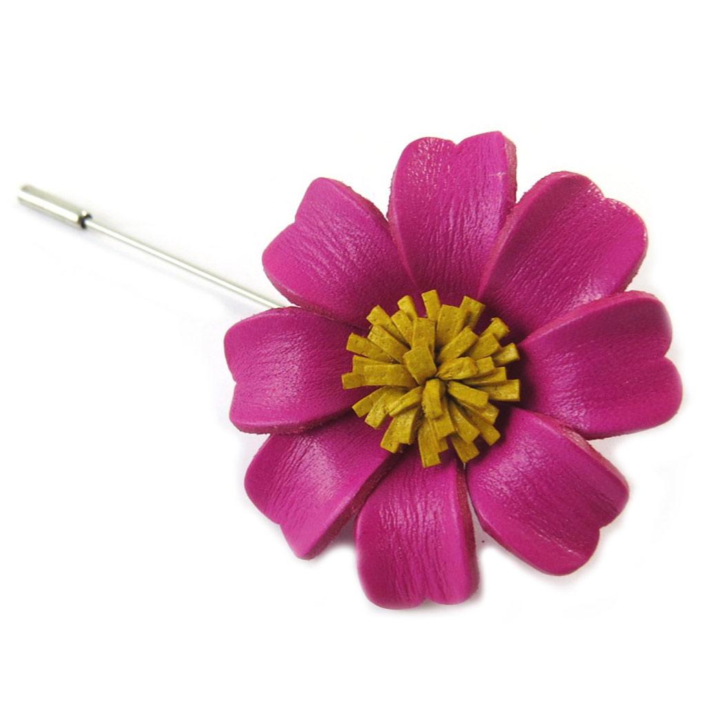 Broche artisanale \'New Life\' rose (fait main) - [N9546]