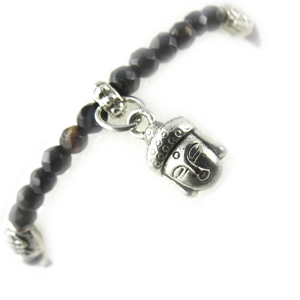 Bracelet \'Minéralia\' agate marron - [K7287]
