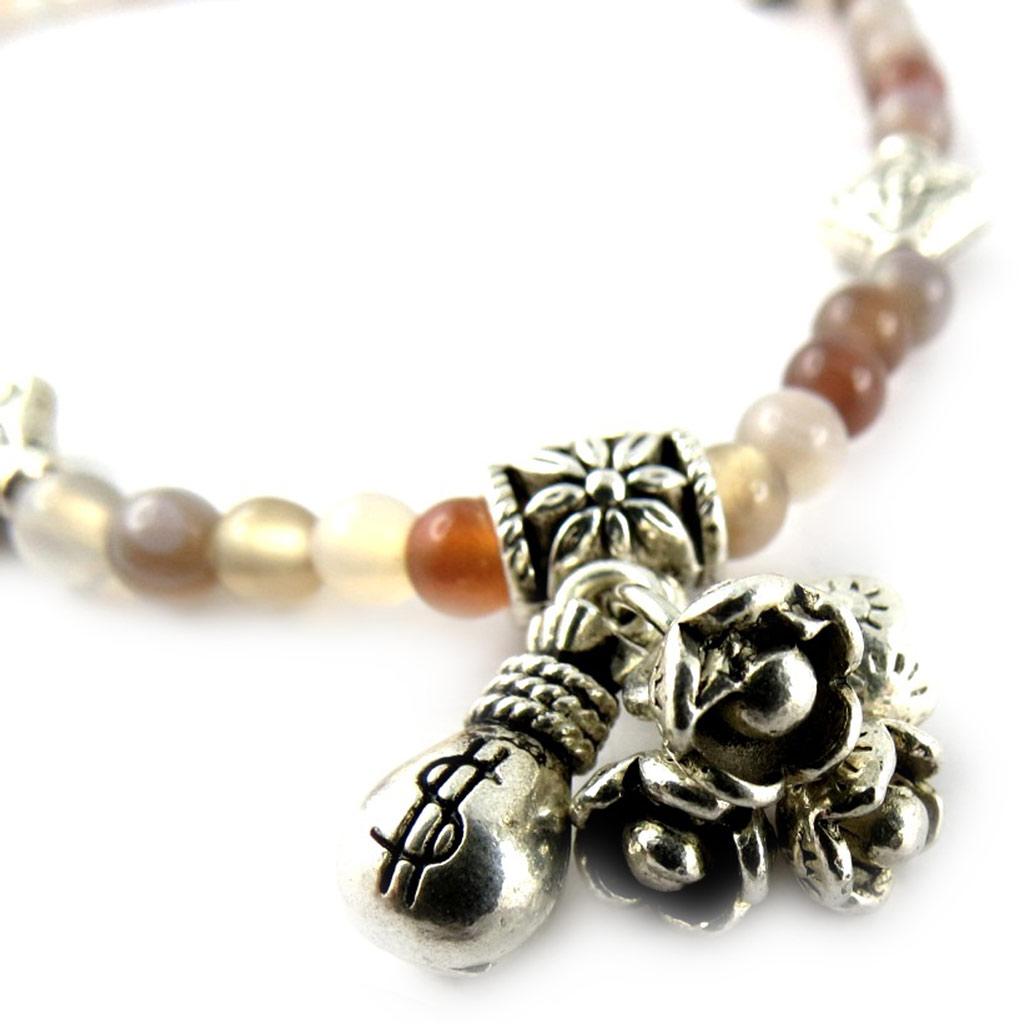 Bracelet \'Minéralia\' agate - [K7292]