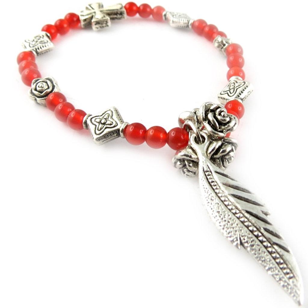 Bracelet \'Minéralia\' agate rouge - [K7293]
