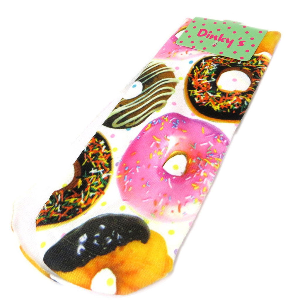 Chaussettes humoristiques \'Donuts\' multicolore - [P3106]