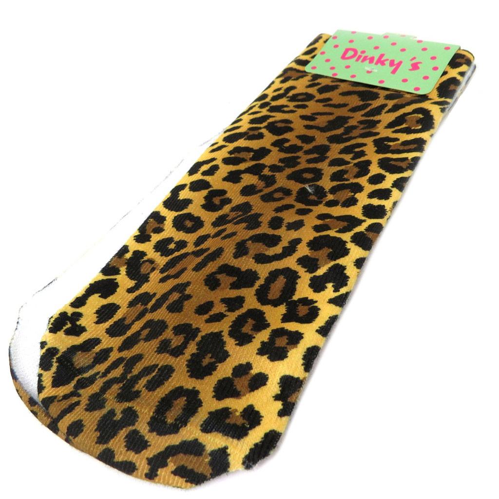 Chaussettes humoristiques \'Leopard\' marron - [P3112]