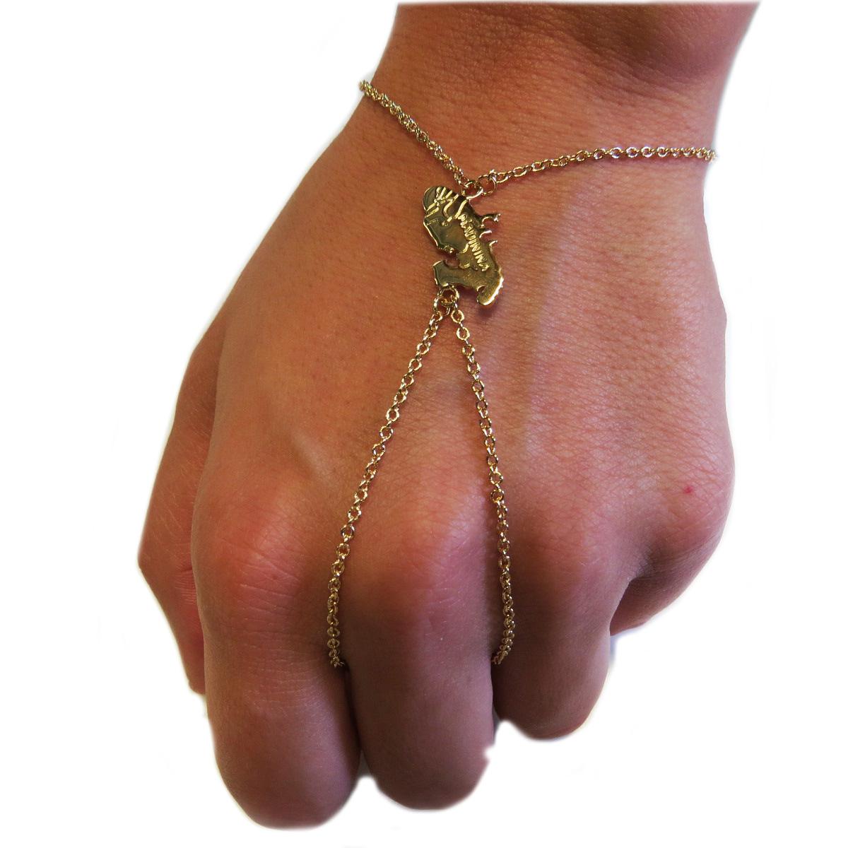 Bracelet Bague Plaqué Or \'MADININA\'  - [G9387]