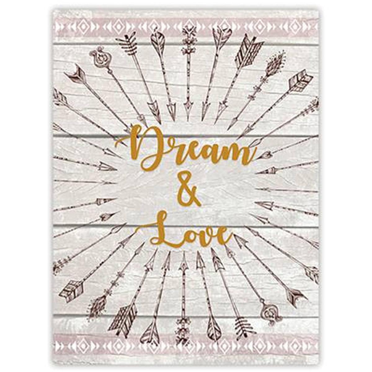 Toile \'Boho\' gris multicolore (Dream & Love) - 40x30 cm - [P3122]