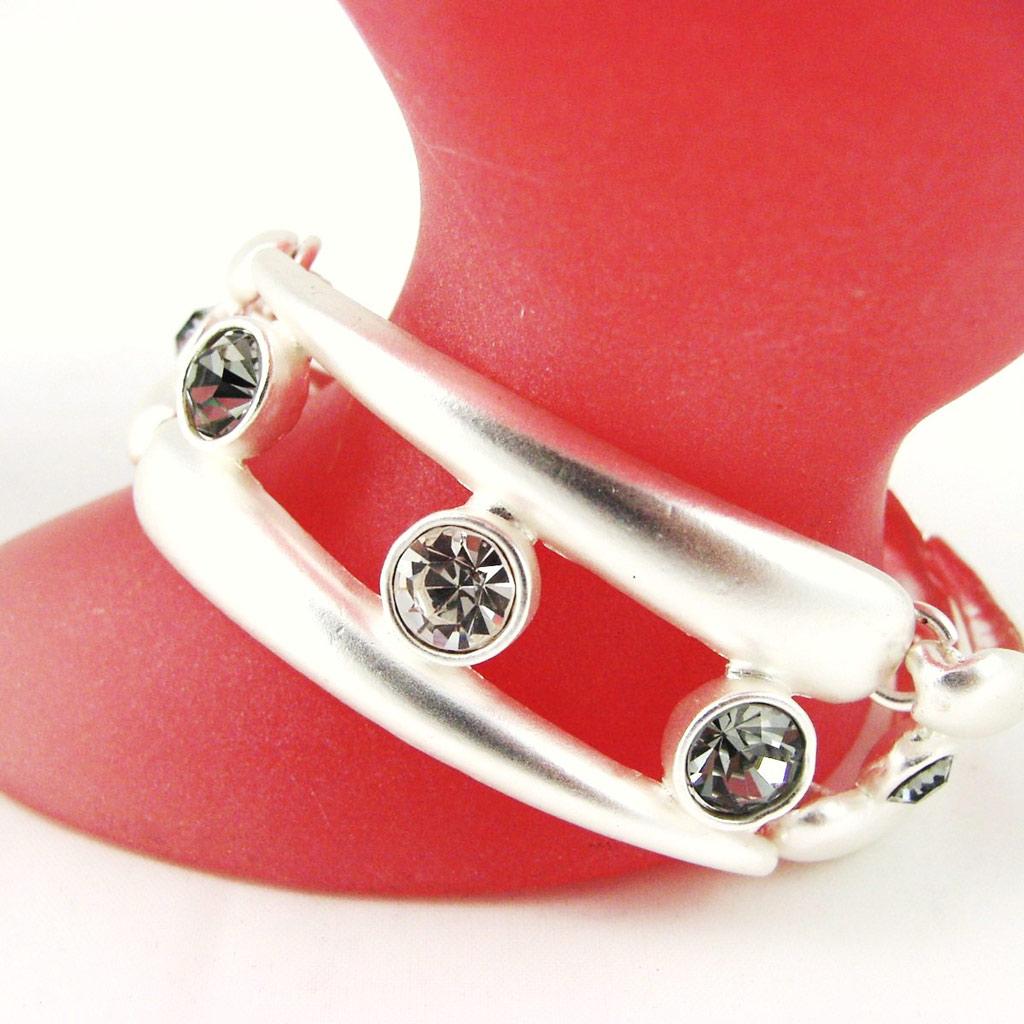 Bracelet Créateur \'Illuminations\' Gris Argenté - [F4159]