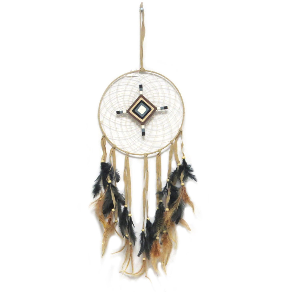 Attrape-rêves \'Navajos\' marron noir - 80x25 cm - [P3132]